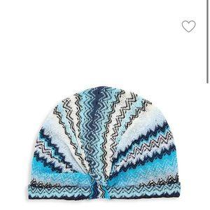 NEW NWT Auth Missoni Chevron Print Turban Hat